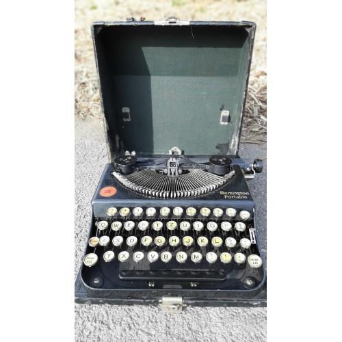 Starožitný Psací Stroj Remington Portable