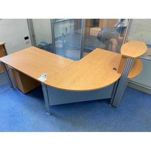 Kancelářský Psací Pracovní Stůl Rohový