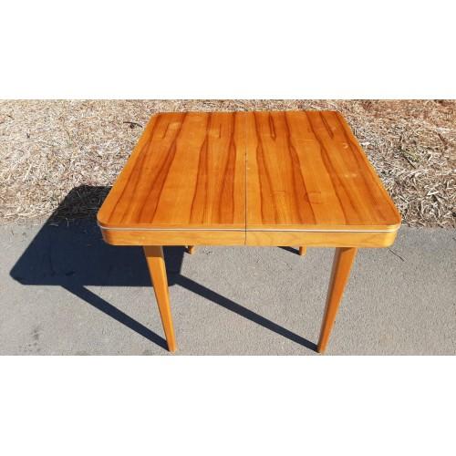 Rozkládací Jídelní Stůl + 4x Židle Socialismus 70.-80. léta RETRO Vintage