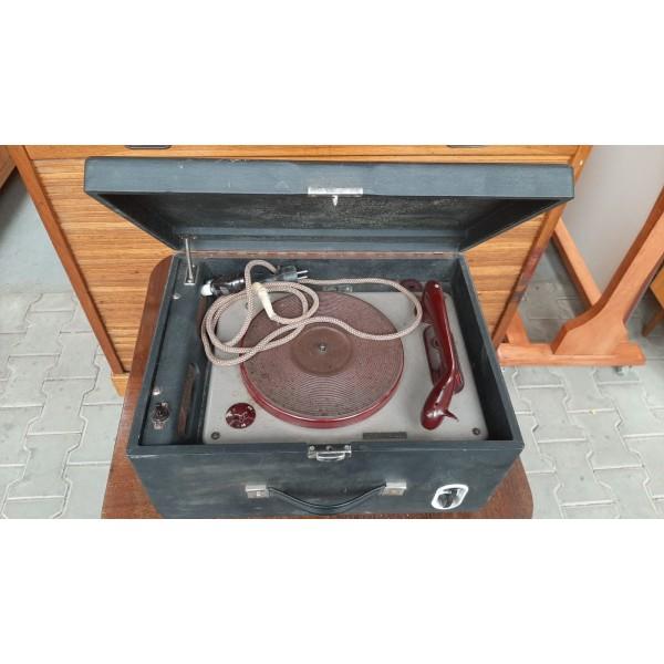 Starý Kufříkový Gramofon SUPRAPHON GE 5 Vintage RETRO