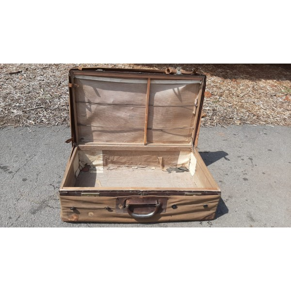 Starožitný Cestovní Kufr s potahem Vintage RETRO