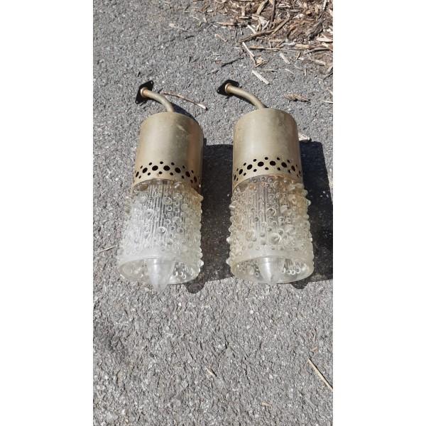 2x Lampa Lampička Lustr Světlo Kamenický Šenov