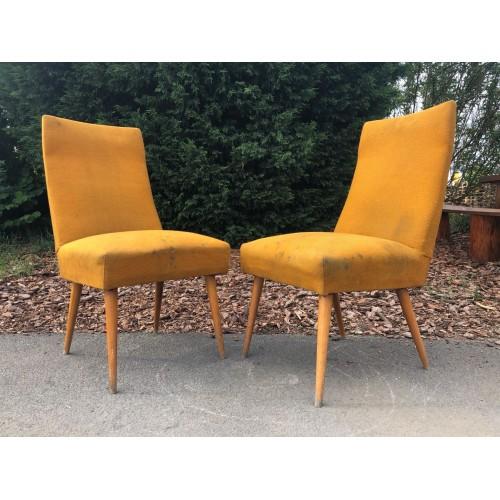 2x křeslo židle 70.-80. léta
