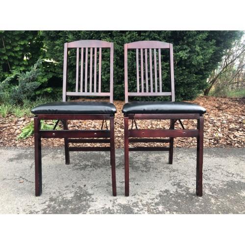 2x masivní židle kvalitní skládací bytelné