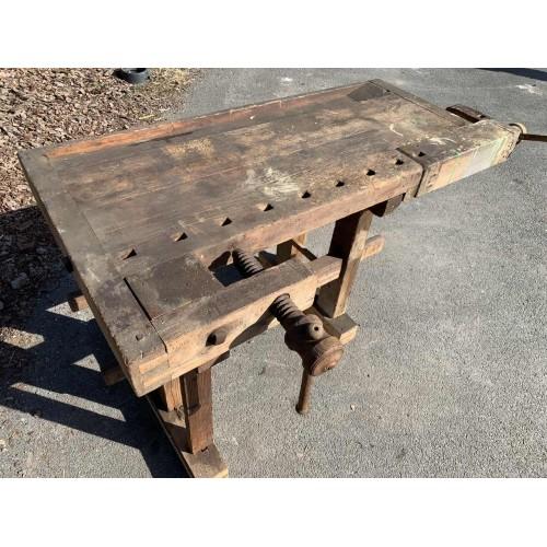 Hoblice, truhlářský ponk, pracovní stůl-cca 100let starý