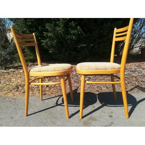 2x Židle Jídelní Thonet TON RETRO Top Stav 70.léta