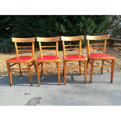 4x Jídelní Kuchyňská Židle RETRO 70.-80. léta TOP