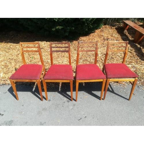 4x Židle Jídelní Kuchyňské 70. - 80. léta RETRO