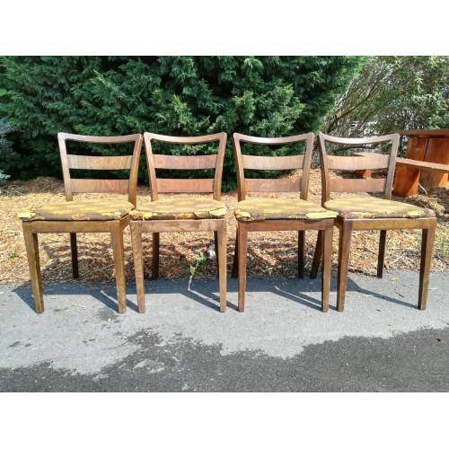 4x Židle Jídelní Kuchyňské ART DECO