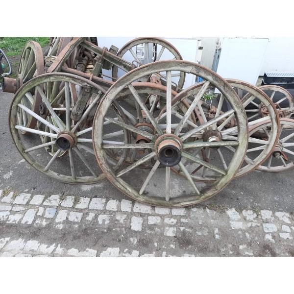 Starožitný Žebřiňák Loukoťová Kola Vůz Zemedělské Stroje