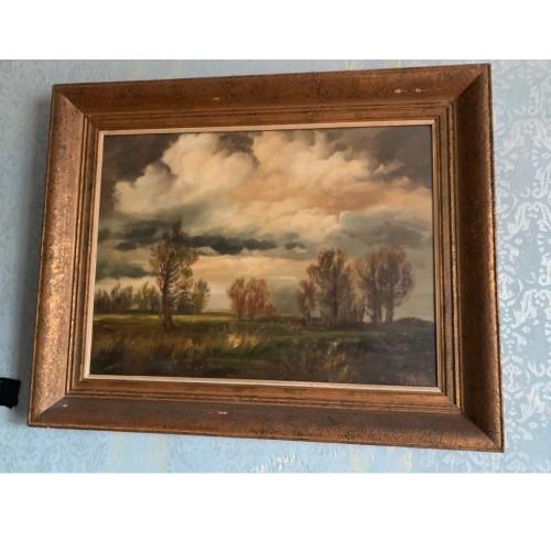 """Obraz """"Krajina před bouří"""" - Viktor Rolín - olej na plátně"""