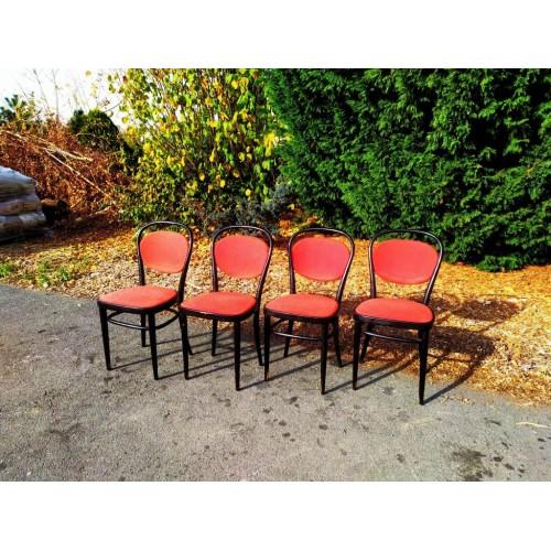 4x Jídelní Kuchyňská Židle orig. TON Thonet