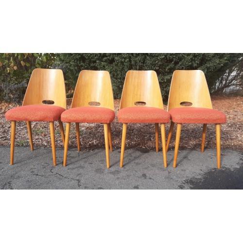 4x Jídelní Kuchyňská Židle TATRA Retro