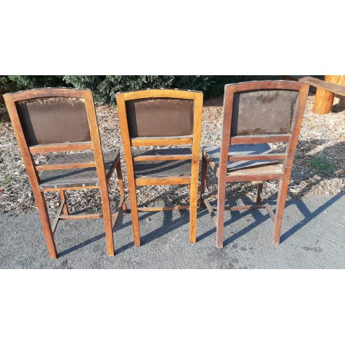 3x Jídelní Kuchyňské Židle RETRO