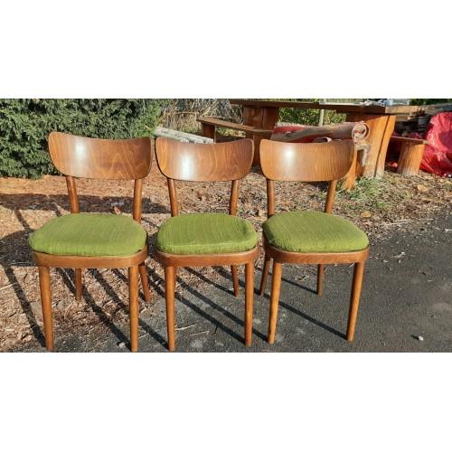 3x Jídelní Kuchyňské Židle TON Thonet 70.-80. léta RETRO