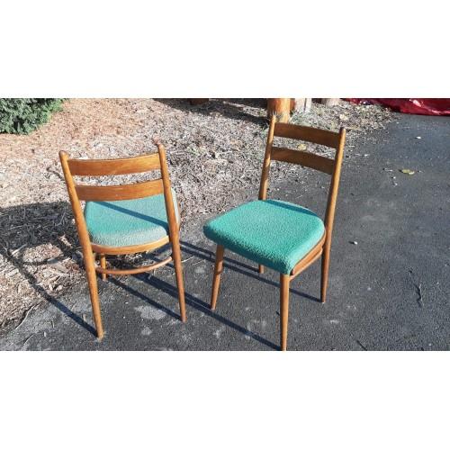 2x Jídelní Kuchyňská Židle TON Thonet 70.-80. léta RETRO