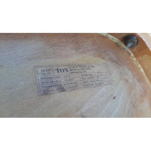 Židle Jídelní Kuchyňská TON Thonet 70.-80. léta RETRO