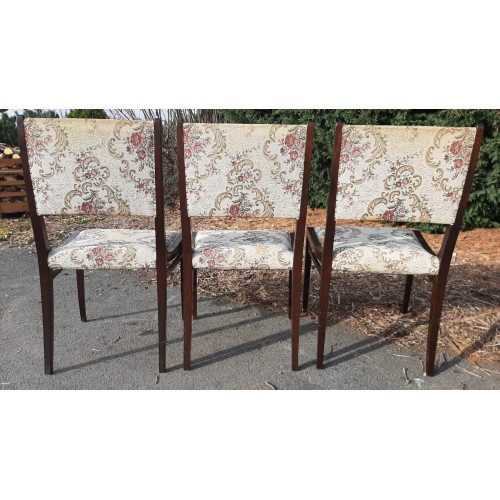 3x Starožitná Jídelní Kuchyňská Židle RETRO