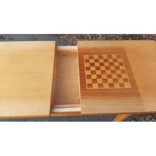 Rozkládací Stůl Stolek se Šachovnicí
