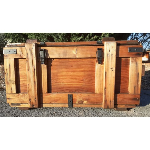 Stará Dřevěná Truhla Bedna Přepravka Kufr