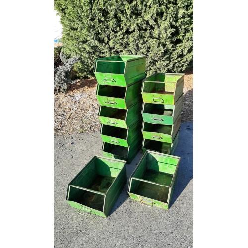 Industriální Kovová Přepravka Kontejner Box Regál VINTAGE